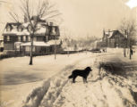 University Heights after snowfall, 1910